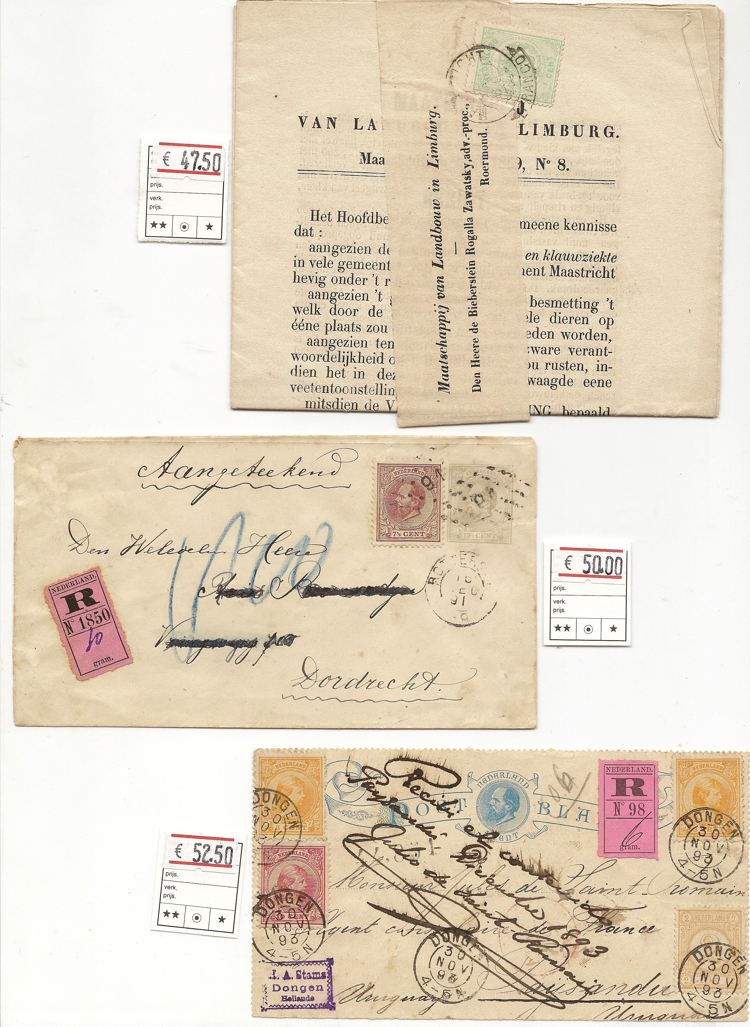 brieven naar buitenland